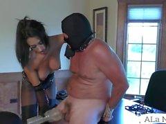 ALa NyLons Mistress Fuck Strapon Slave - SUPER XXX
