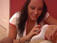 Nurse Lea Tickle Tortures Britney