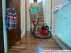 BBW housewife masturbates