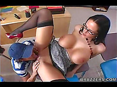 Sexy!menacing Nerdy Glasses Teacher Carmella Bing Sloppy Oral-Stimulation and Anal Fuck HD Porn Episodes