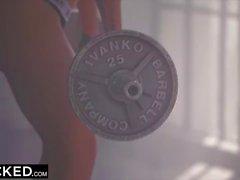 interracial de acción con vapor caliente de espesor de grasa botín Nicole Anistons