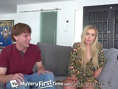 MyVeryFirstTime Blonde step sister Dakota Bleu fucked