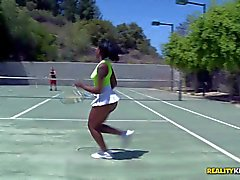 Black tennis girl Stacy Cream with sexy ass