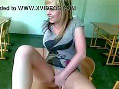 Czech school girl naked in class