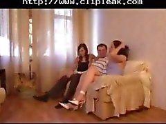 teens threesome orgy hot