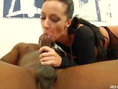 Jada Stevens taking big black cock in hard anal sex