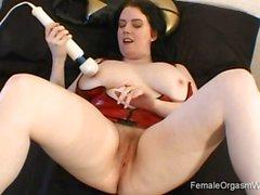 Big Boobed Babe Solo Fun and Masturbation