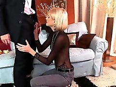 Skinny bimbo has her tight asshole drilled