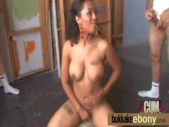Interracial bukkake girl gangbang 16