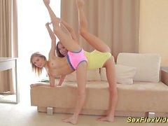 skinny flexible girlfriend gymnasts