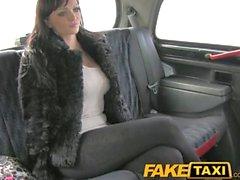 FakeTaxi Huge big tits on sexy young escort