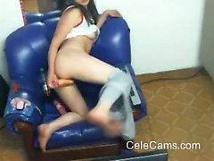 Horny 20 year old Latina teasing on webcam