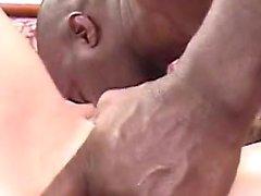 Large black penis nailed shaved pussy slut