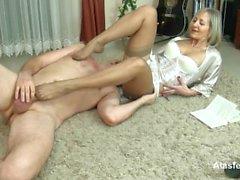 Worshipping my beautiful mistress