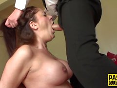 Throating bdsm sub fucked
