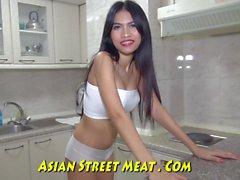 Dancing Asian Jap Lead On Leash