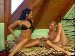 Hot babes Trixi Red and Kim Ester at Lesbian Sex Tales