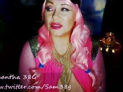 Samantha38g Live-Cam-Show-Archiv von Chaturbate Alien Cosplay Outfit