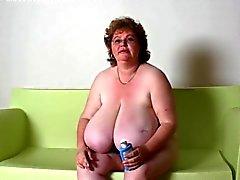 BBW Granny Massage Huge Boobs