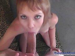 Casting Czech Petite Sabrina Sucking Cock