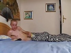 Busty Grandma Caught Her Stepson Masturbating Over Porn