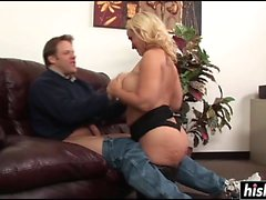 Amazing MILF gets a hard cock