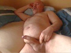 Opa Sperma vor der Webcam
