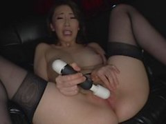 Lonely beautiful asiachick doing herself with white dildo