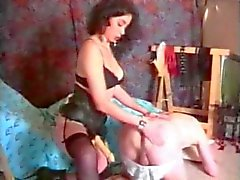 French bitch fucks her man with strapon