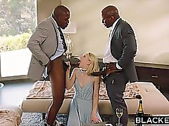 Blacked novia sumisa castigado con dos hombres negros