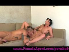 FemaleAgent. Nymph stripper delights MILF