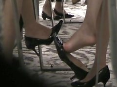 Crazy ass dangling heels