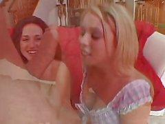 British sluts in a FFFM foot fetish foursome