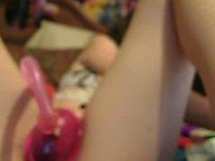 Ballong fetish Brunette Dildos Hennes Pussy On Webcam