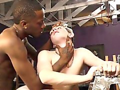 Twink interracial jizzed