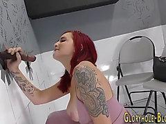 Redhead butt rides bbc