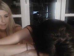 Blonde Lesbian GFs Toying