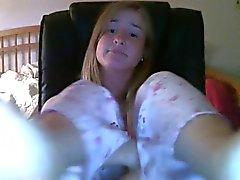 Femmina di webcam nel Piedi bella