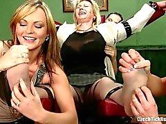 Russian teacher tickle feet