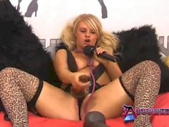 Shebang.TV - Horny blonde Bonnie Rose playing with her toys
