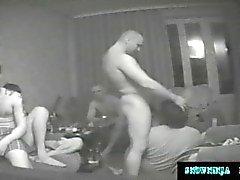 Cachés came Gangbang russes Marines et des camionneurs