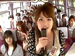 Loco muchachas asiáticas tengan excursión en autobús en caliente 1 de