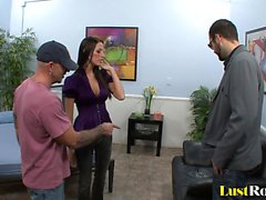 Hot Kourtney Kane gets fucked while her man watches