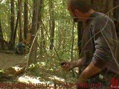 Male Fun in the Woods