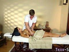 Massaged milf gets facial