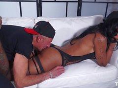 TransBella - Horny tranny Priscylla gets her cock sucked