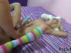 Naughty teen slut gets hammered really hard
