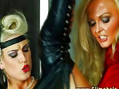 Jenna Lovely and Blanche Bradburry get bukkak