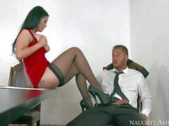 Incredibly sexy Katrina Jade getting banged by co worker