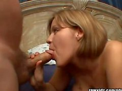 Claire James fucks an old geezer